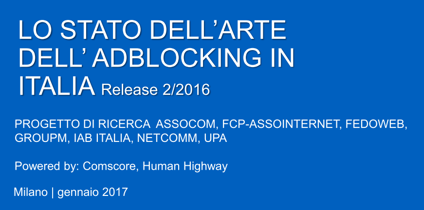 LO STATE DELL'ARTE DELL'AD BLOCKING IN ITALIA: SECONDA WAVE